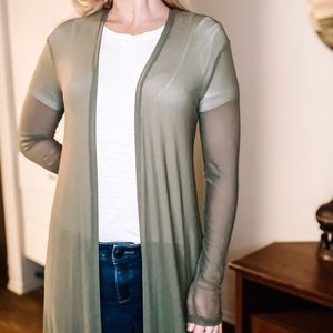 Women's Sheer Green Kimono